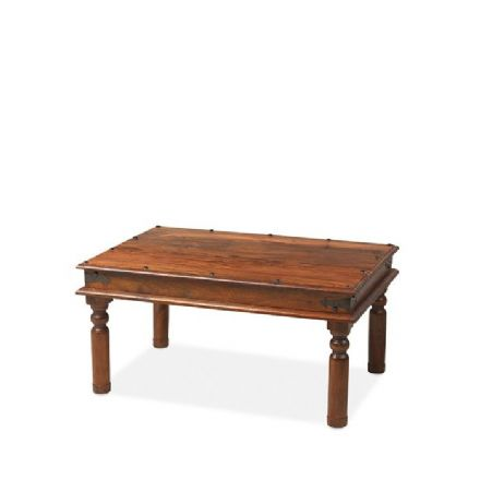 Jali Sheesham Wood Thacket Coffee Table